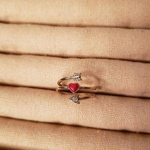 Chloe + Isabel Jewelry - Petits Bijoux Heart + Arrow Ring